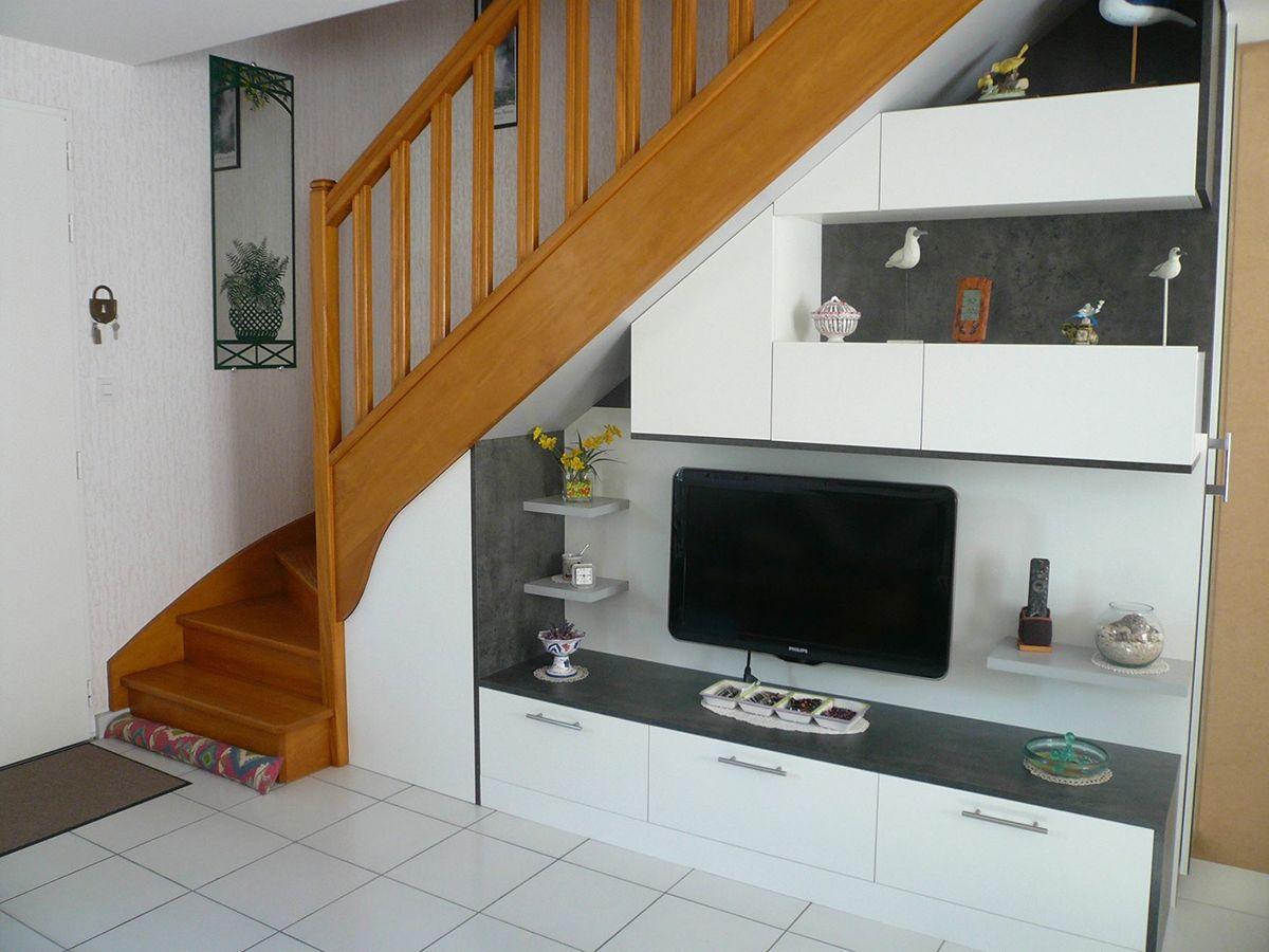 Meuble Tv Sous Escalier Sur Mesure Meuble Sous Escalier Amenagement Sous Escalier Meuble Vasque Bois