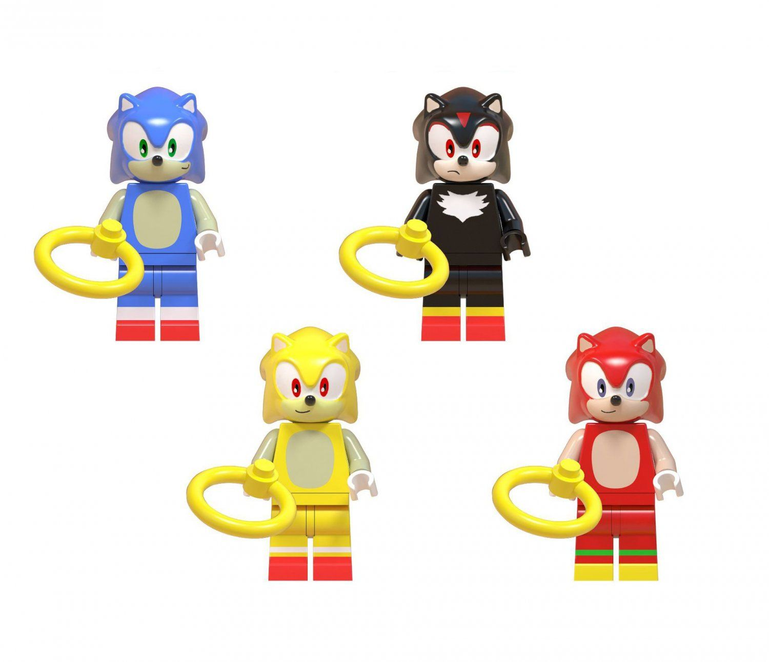 Sonic The Hedgehog Shadow Knuckles Minifigures Compatible Lego Toy Comic Set Sonic The Hedgehog Lego Toy Mini Figures