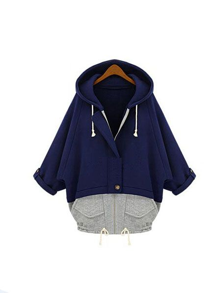 2a6d9150d75 Women Casual Batwing Type Hooded Collar Loose Waist Coat - Lalalilo.com  Shopping - The