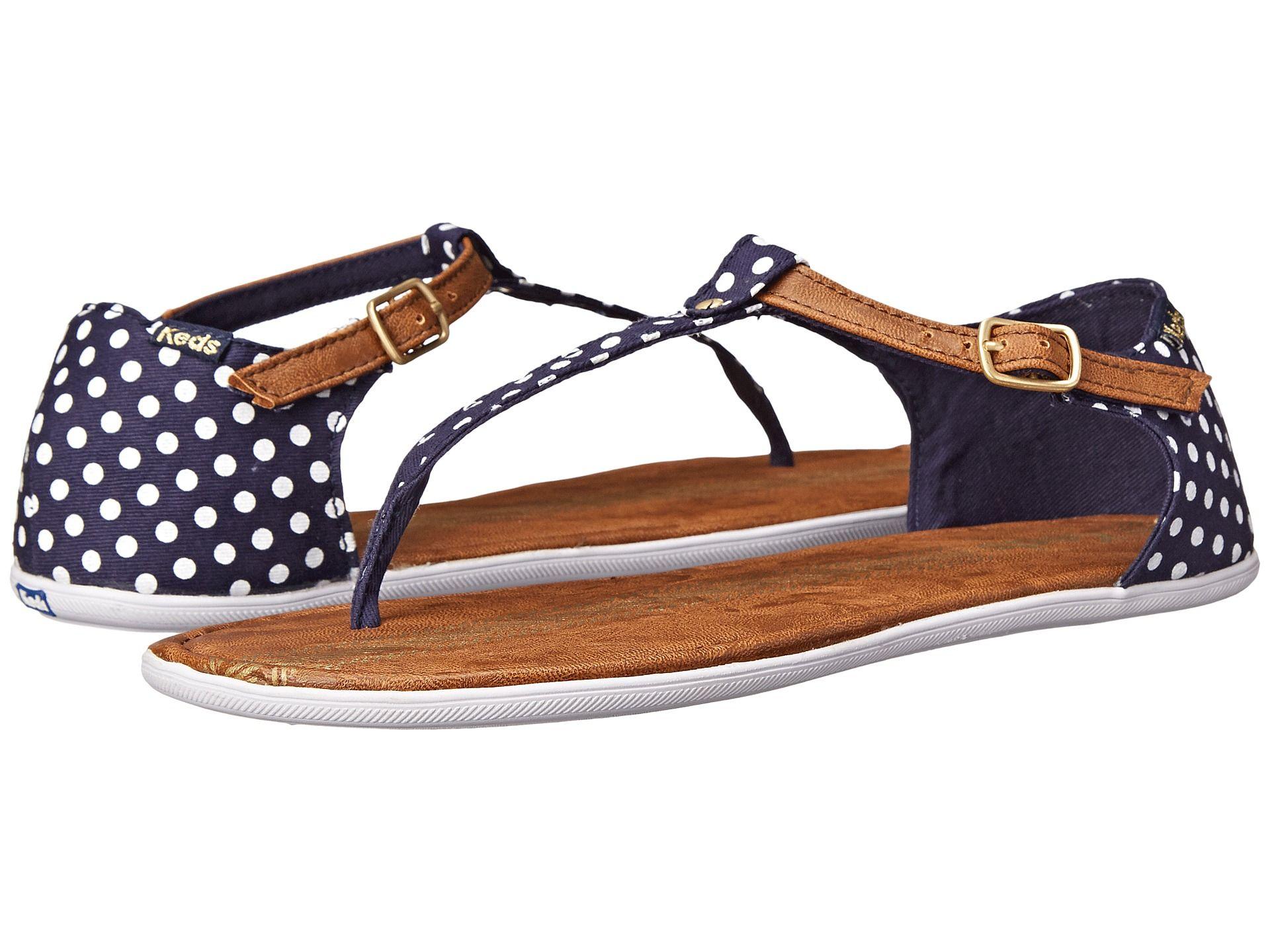 Women Sandals Keds Tealight TStrap Dot Navy