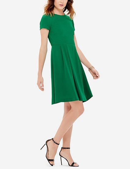 Textured Fit & Flare Dress from THELIMITED.com