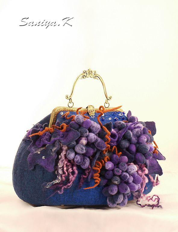 """Купить Сумка """"Каприз"""" синяя - сумка синяя, сумка ручной работы, сумка синяя синяя ♡"""
