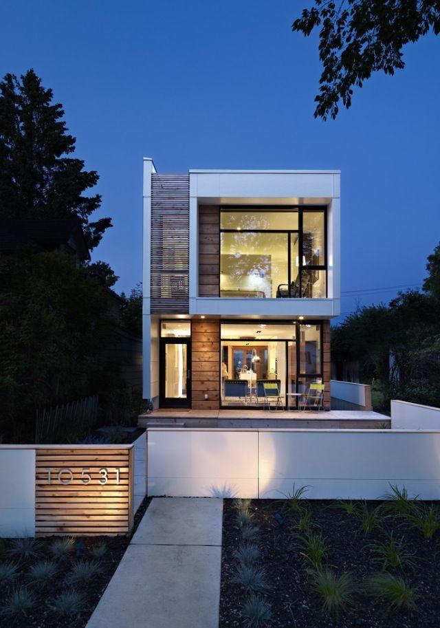 modern house facade inn out pinterest schmales haus haus und moderne architektur. Black Bedroom Furniture Sets. Home Design Ideas