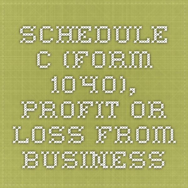 Schedule C (Form 1040), Profit or Loss From Business