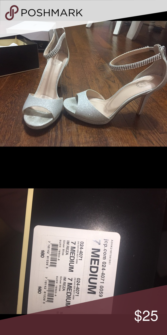 d0d6fe55ad33 Silver sparkly heels Very cute and great for special events jcpenney Shoes  Heels