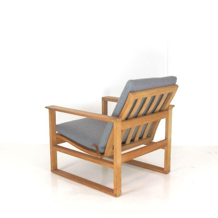 Borge Mogensen Designed   Vintage Oak Sleigh Chair, Model 2256. Designed In  1958.