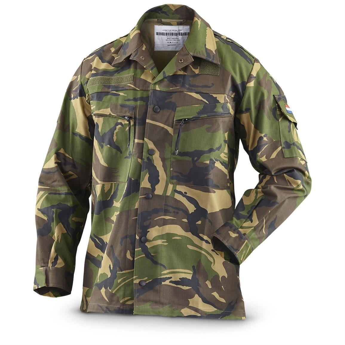 New Dutch Military Surplus DPM Camo Field Jacket Camo