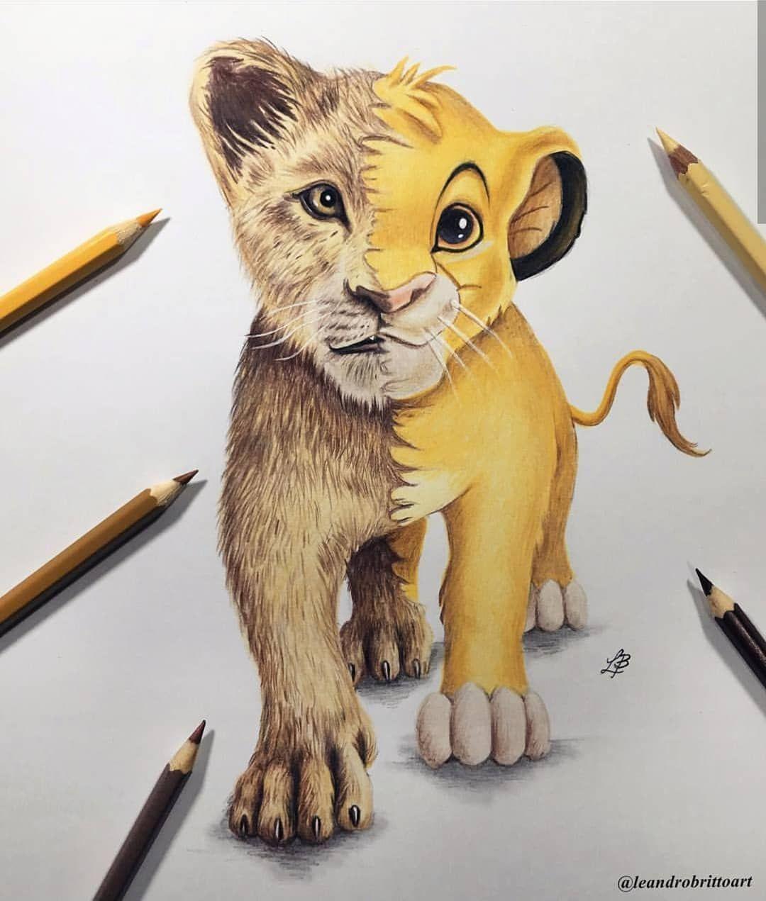 Милые картинки льва рисунки