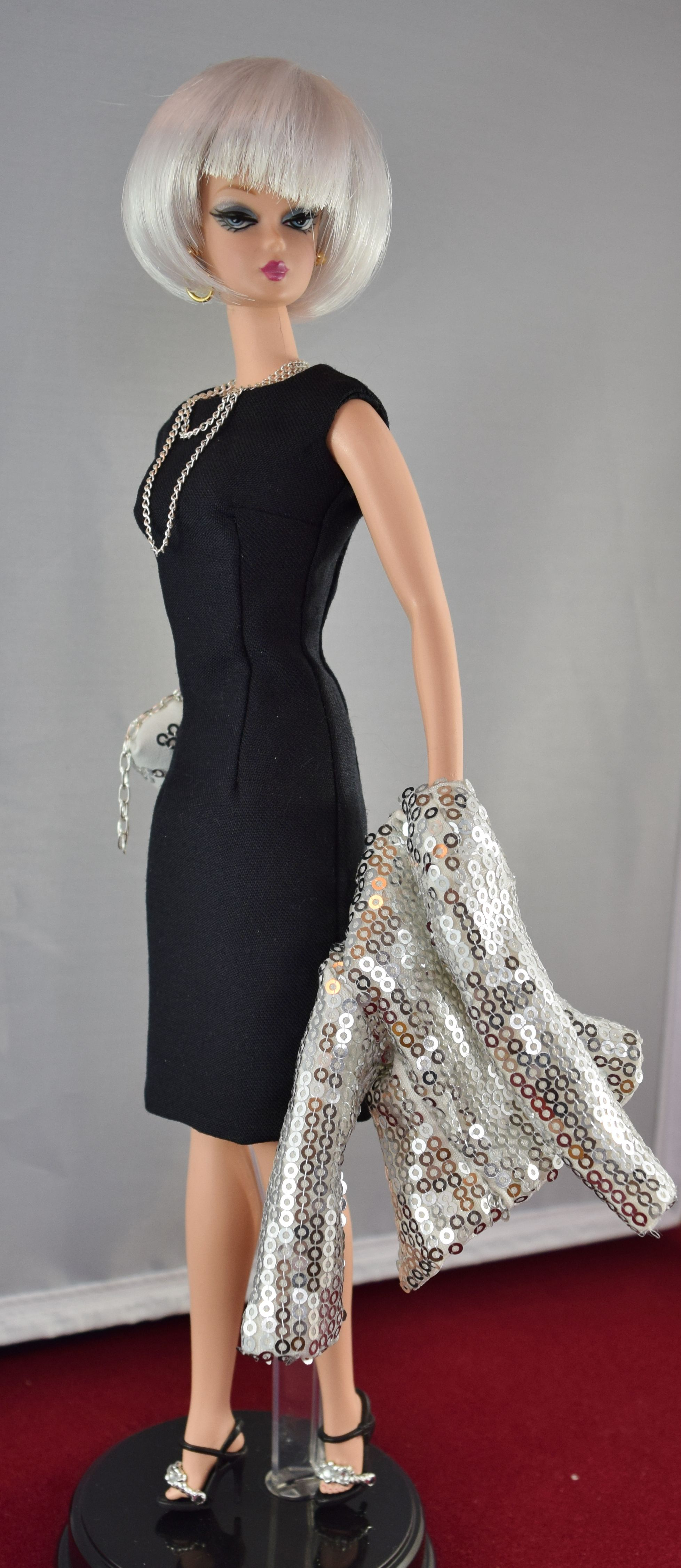Sequined Jacket and Black Sheath - Sold  on Etsy