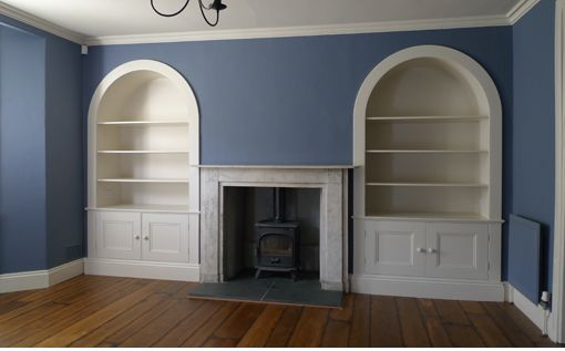 incredible living room alcove decorating ideas | Image result for lighting for arched alcove shelves ...