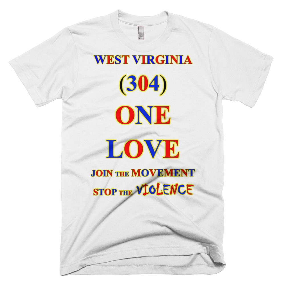WEST VIRGINIA Area Code ONE LOVE Products - Virginia area codes