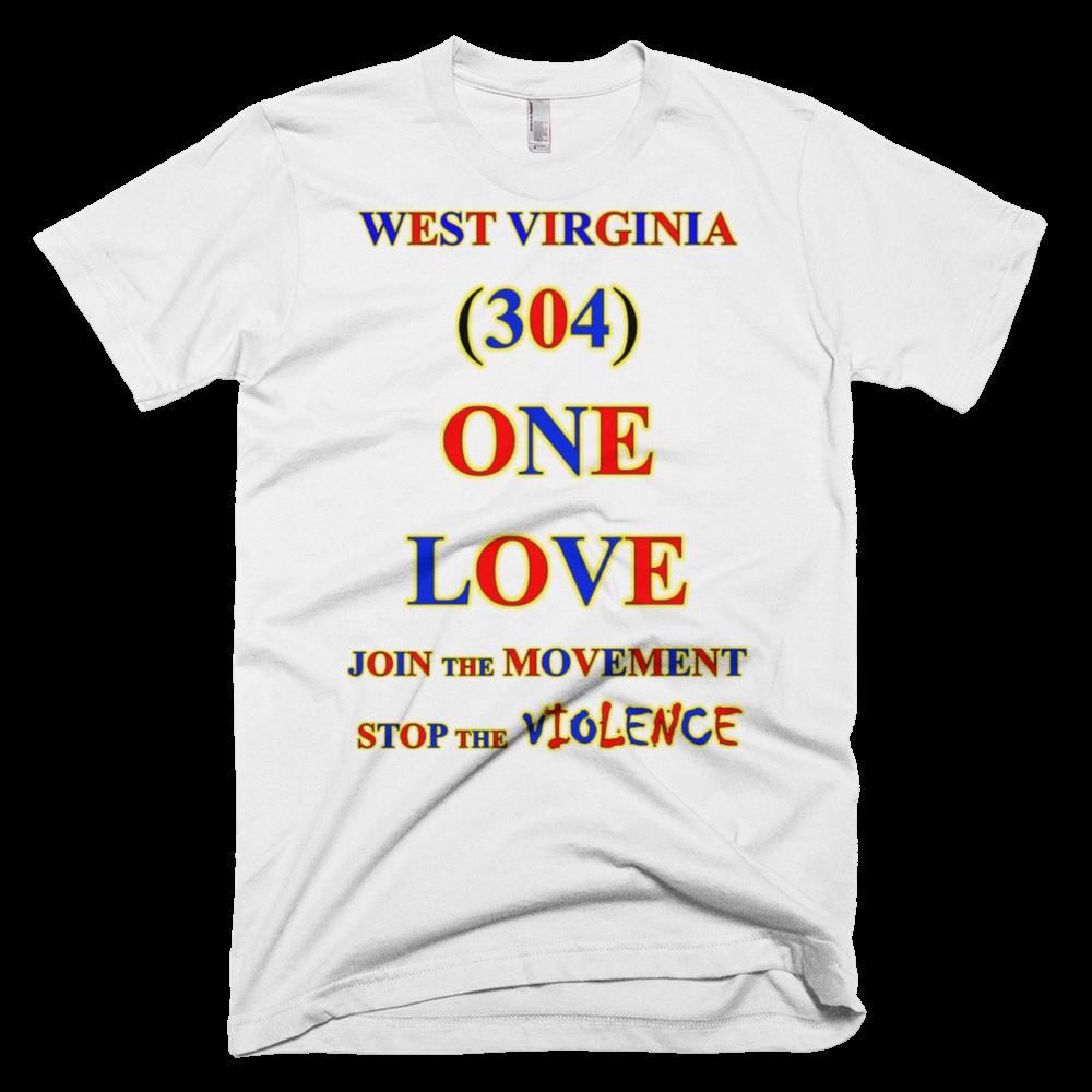 WEST VIRGINIA Area Code ONE LOVE Products - Virginia area codes