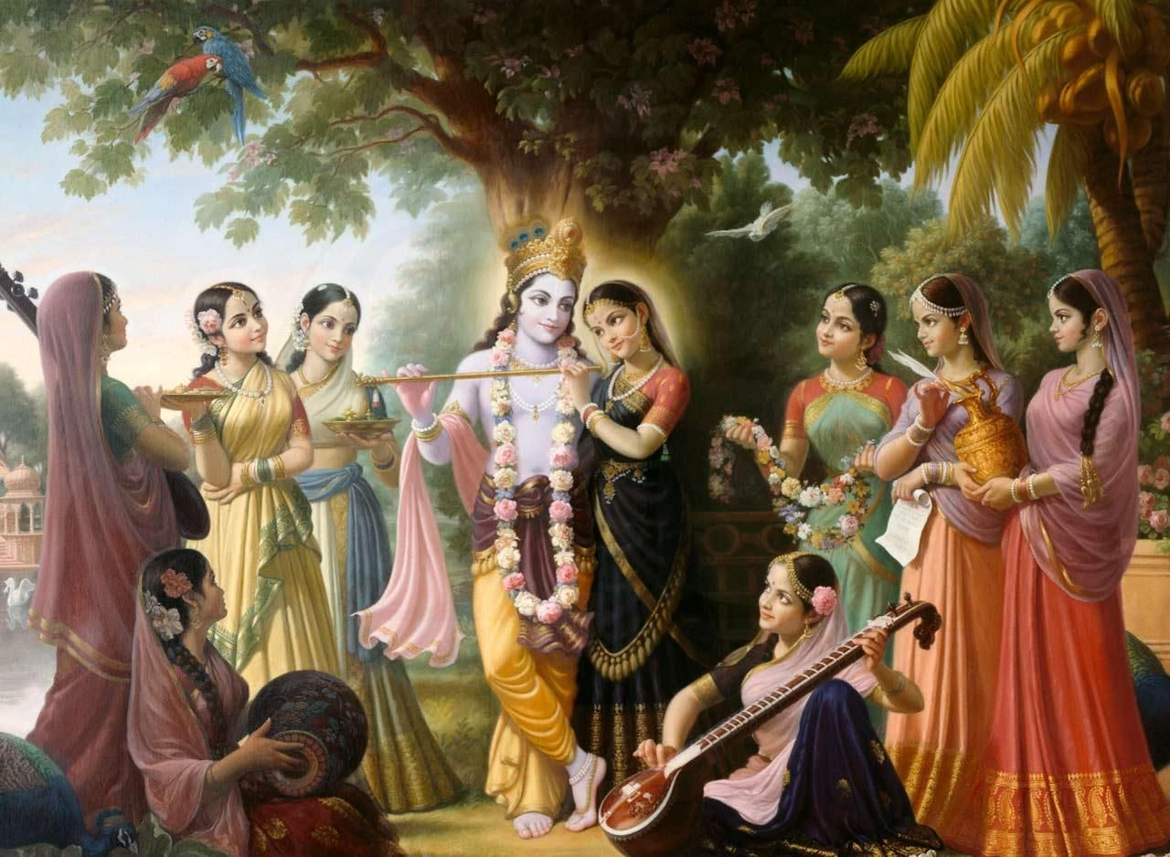 Image result for krishna and gopis