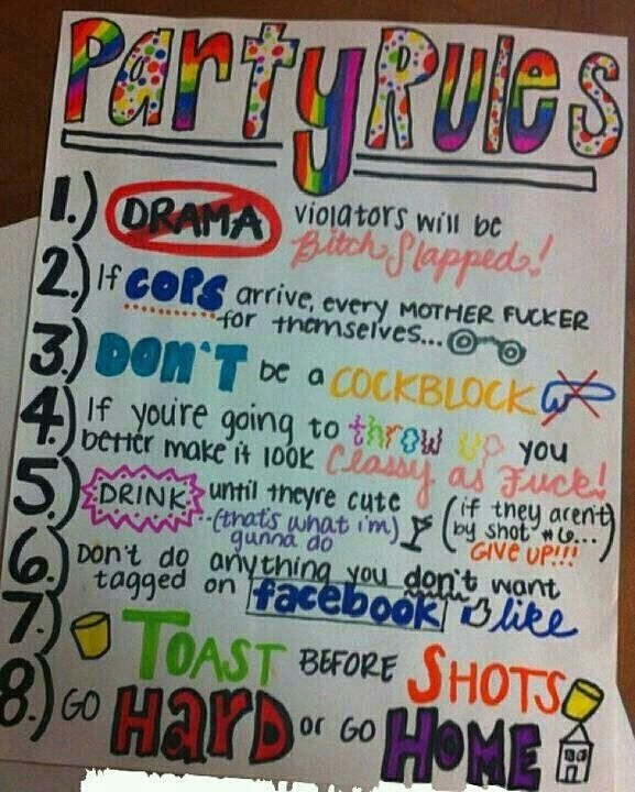 RULES For Partying Hard