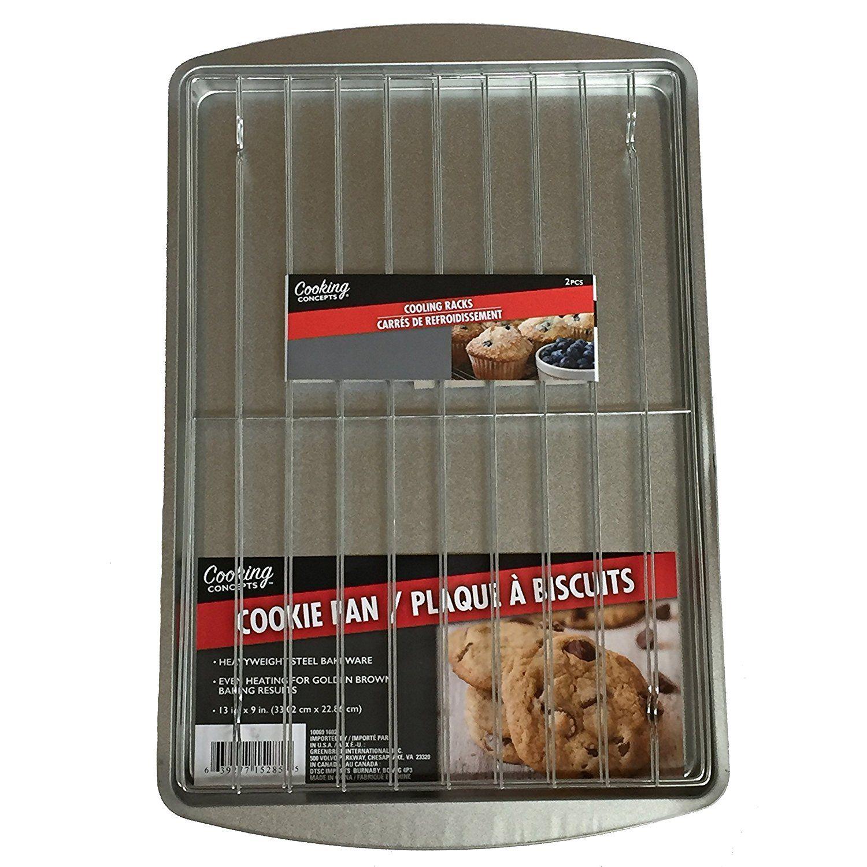 Baking pan with 2 cooling racks 9x13 cookie sheet
