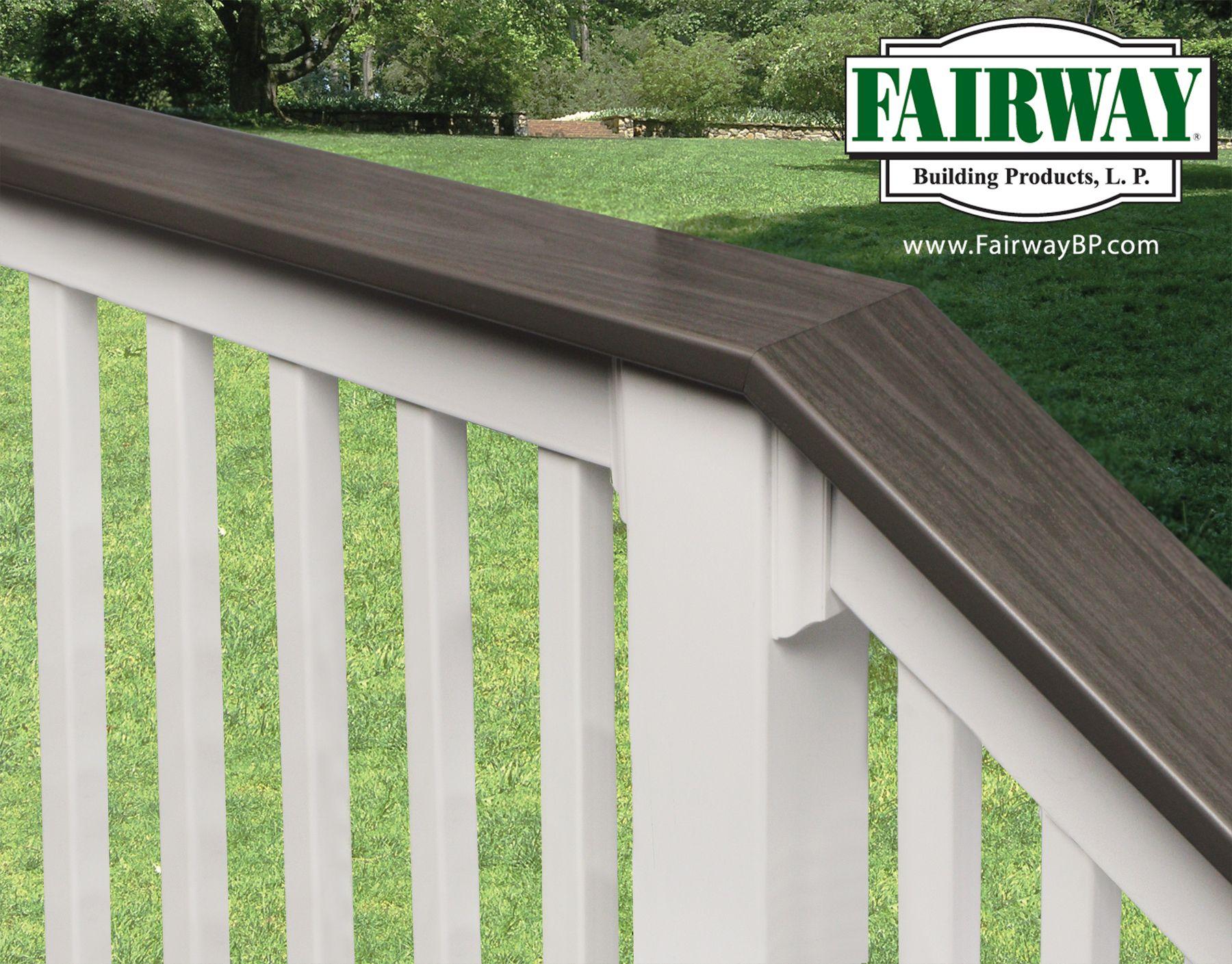 16 best deck railing ideas images on pinterest railing ideas fairway vinyl railing with deck board cap rail porch and deck railing vinyl composite baanklon Image collections