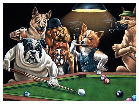 Vintage El Glamour De Antano Perros Del Vintage Con Clase 3 Perros Jugando Poker Piscinas Para Perros Retratos De Perros