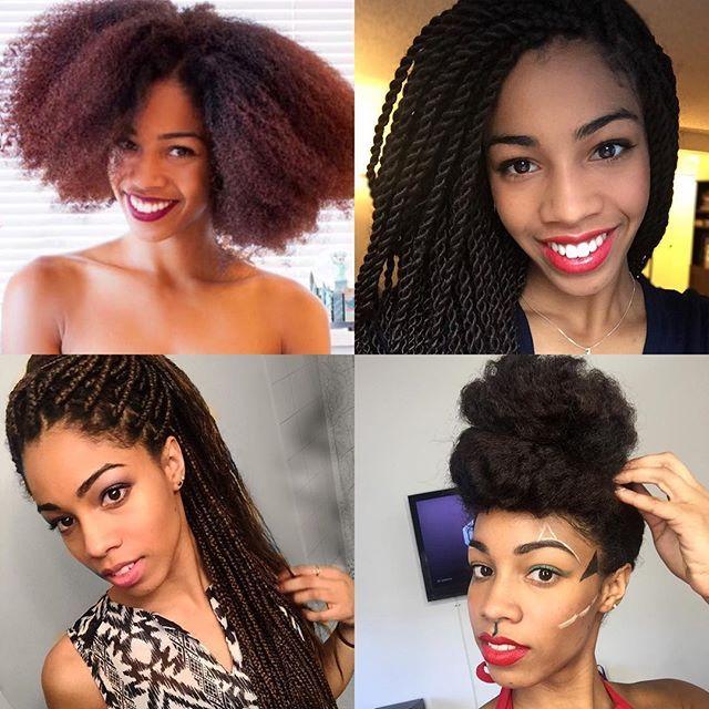 Black Hair Challenge Natural Hair Pompadour Afro Type 4 Hair Senegalese Twists Box Braid Inspiration Natural Hair Styles Hair Challenge Type 4 Hair
