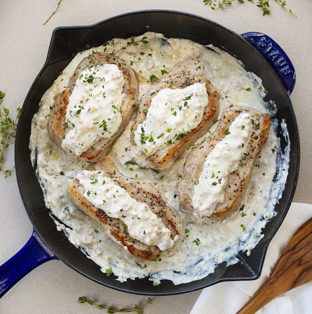 Cream Cheese Pork Chops Recipe Cheese Pork Chops Cream Cheese Sauce Pork Chop Recipes
