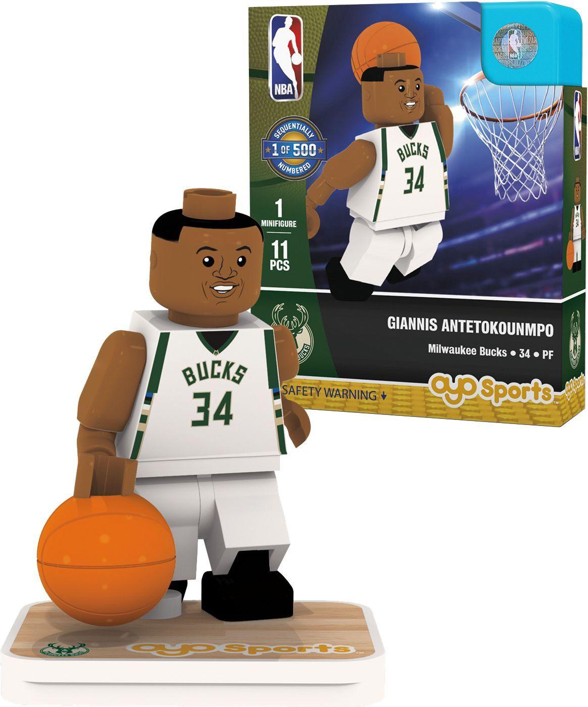 OYO Milwaukee Bucks Giannis Antetokounmpo Figurine, Team
