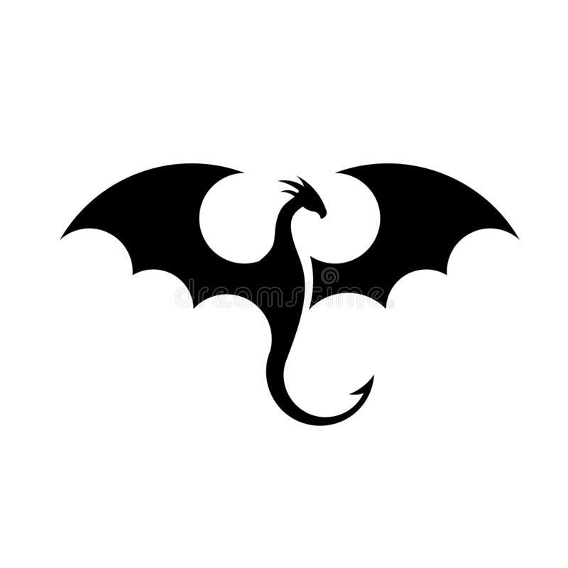 Dragons Silhouette Logo Stock Vector Dragon Silhouette Silhouette Art Dragon Tattoo Designs