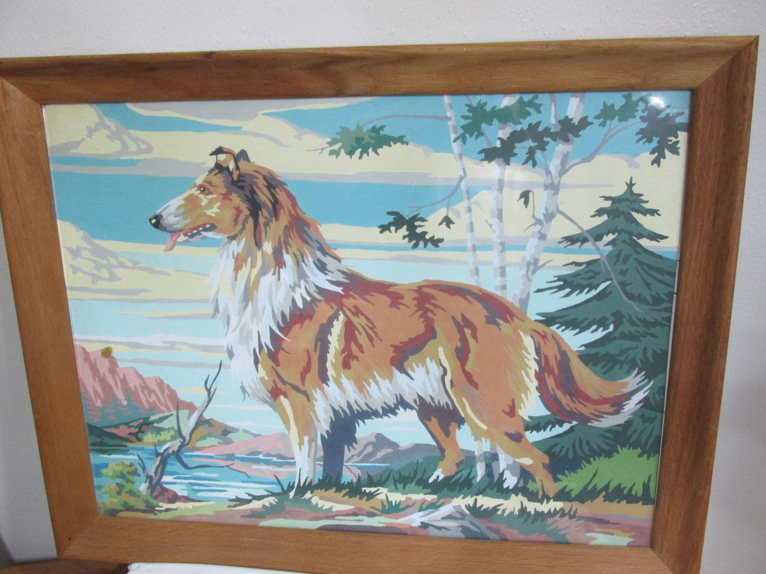 Paint By Number Dog Collie Large 21 X 27 Inches Luruuniques On Etsy