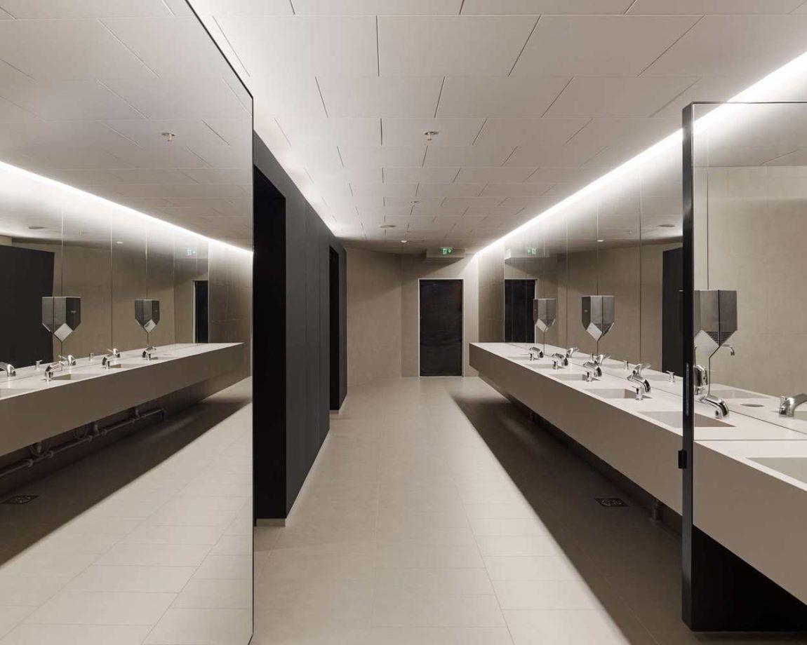Pin by 段 星 on bathroom | Commercial bathroom designs, Public bathrooms, Restroom  design