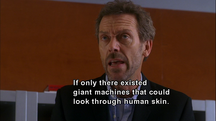 Dr. House. The Look On His Face!