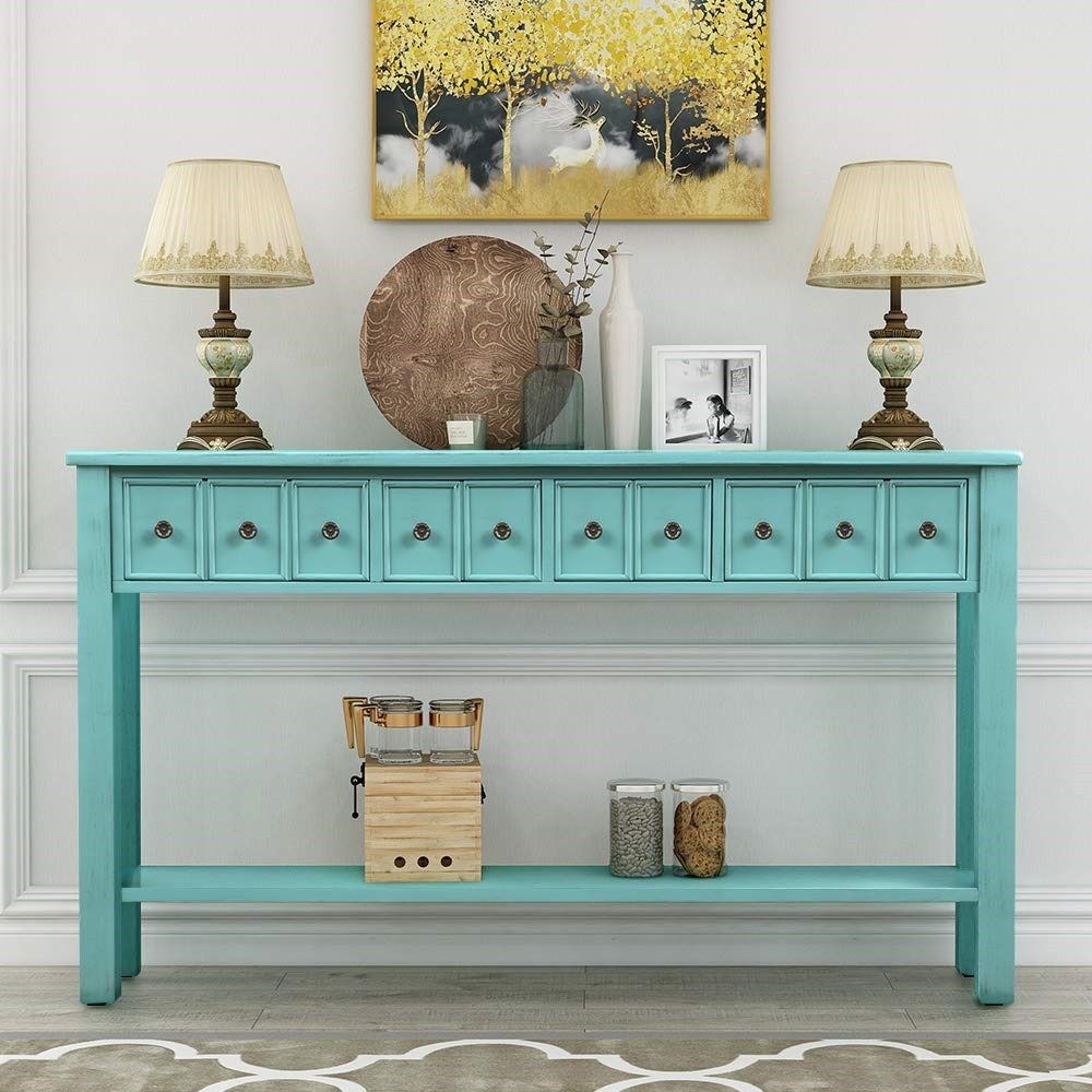 Entryway Table In 2020 Long Sofa Table Console Table Living Room Vintage Industrial Console Table