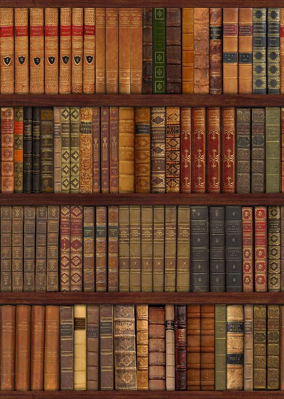 Library Bookcase Old Books Wall Mural Decor Photo Wallpaper - Old book case