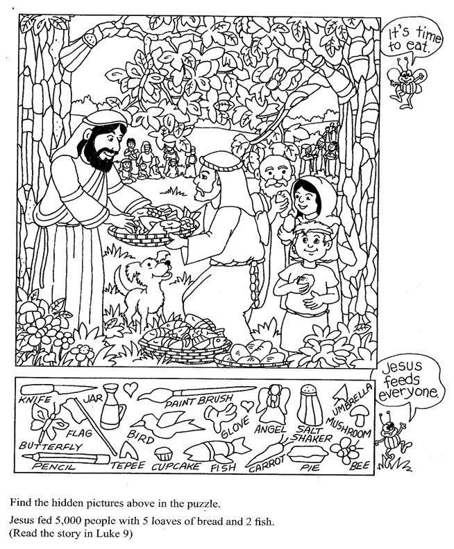 Image Result For Bible Story Hidden Pictures Printable Sun Sch