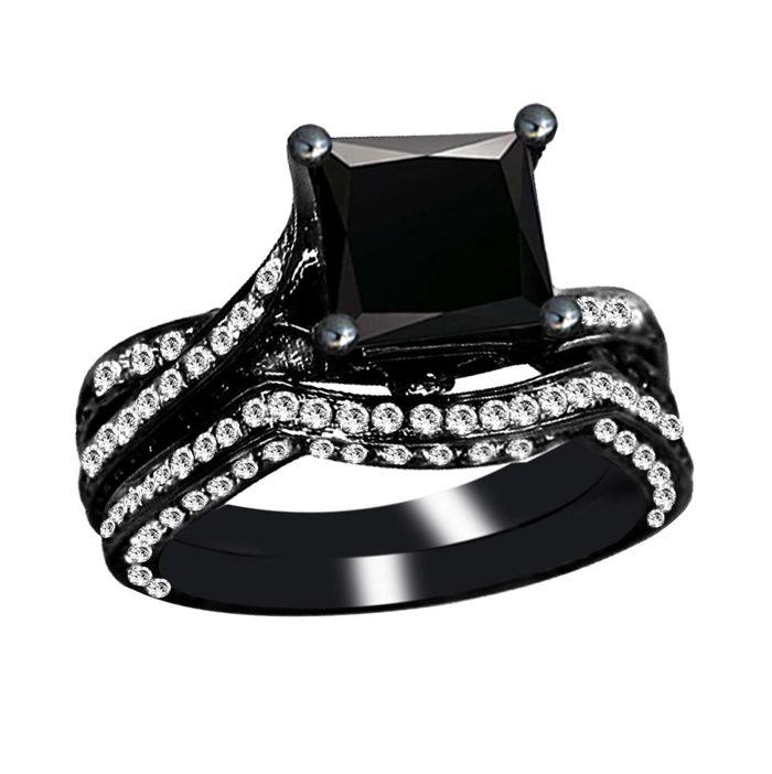 Pink Diamond Engagement Rings Black Diamond Wedding Rings Black