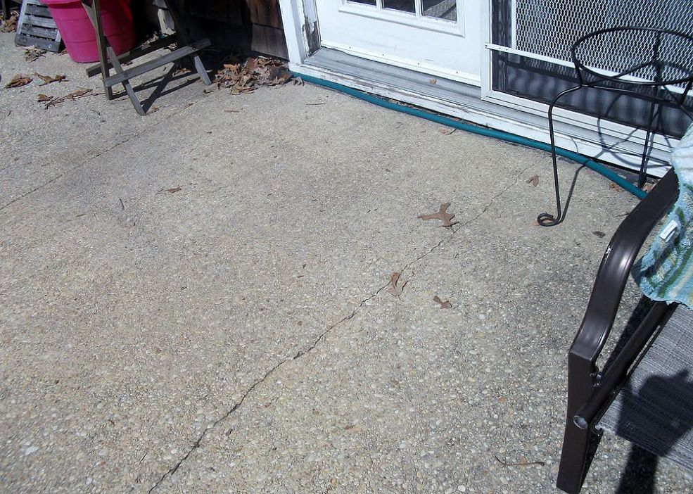 What To Do With An Ugly, Cracked Concrete Patio