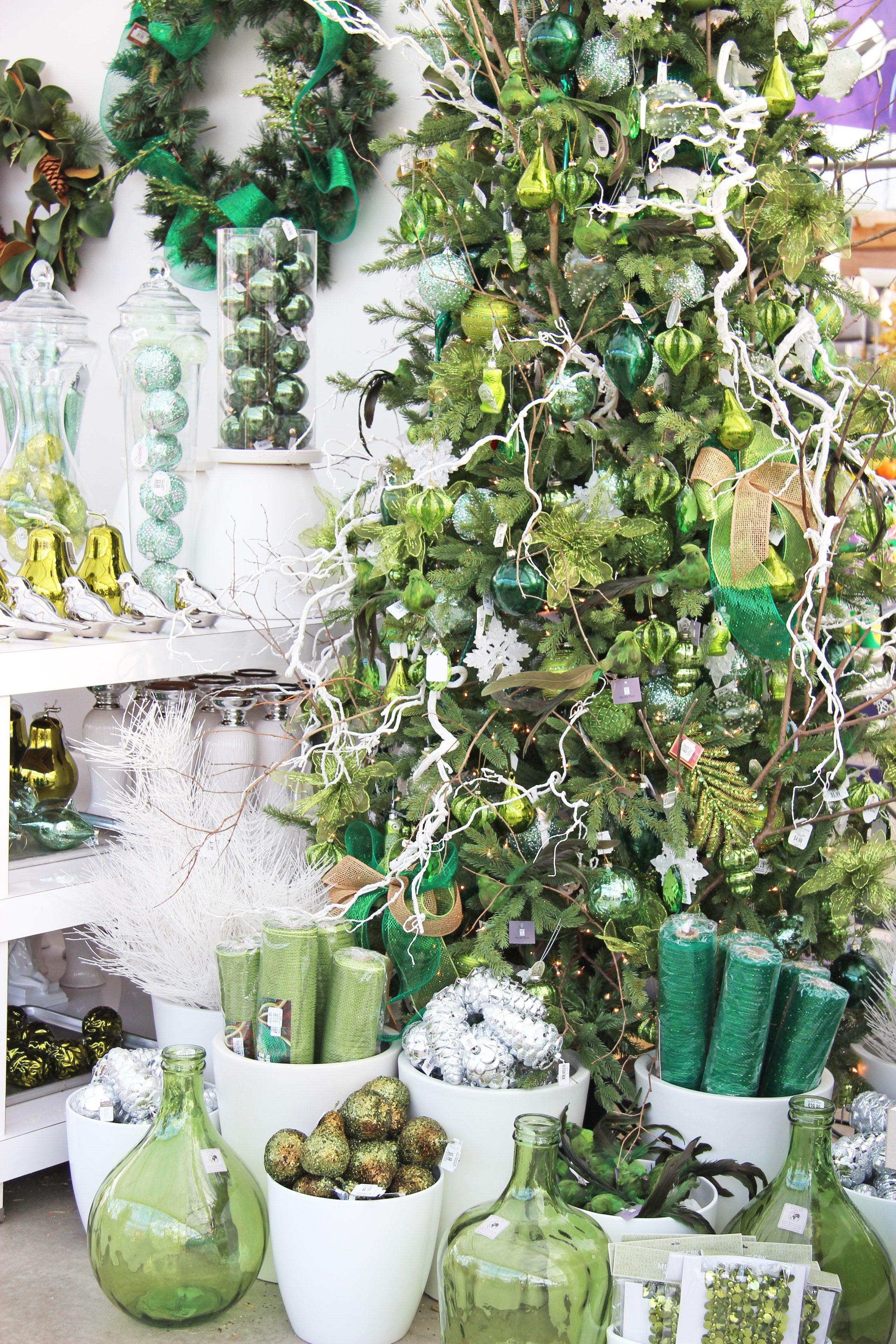 Christmas Decor  Shades Of Green