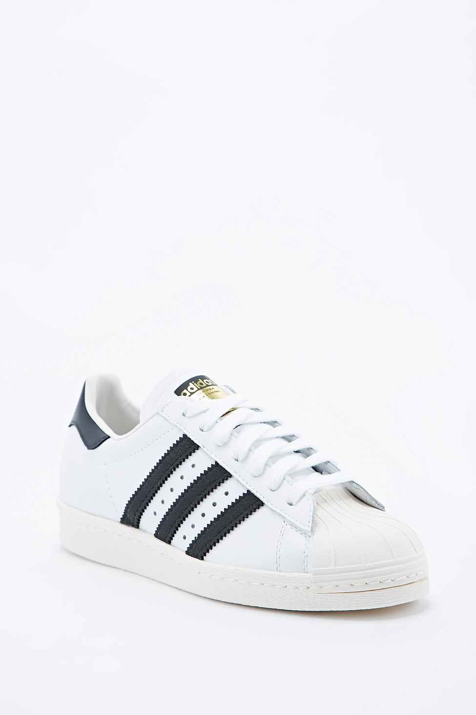 adidas - baskets originals superstar 2 noir/blanc