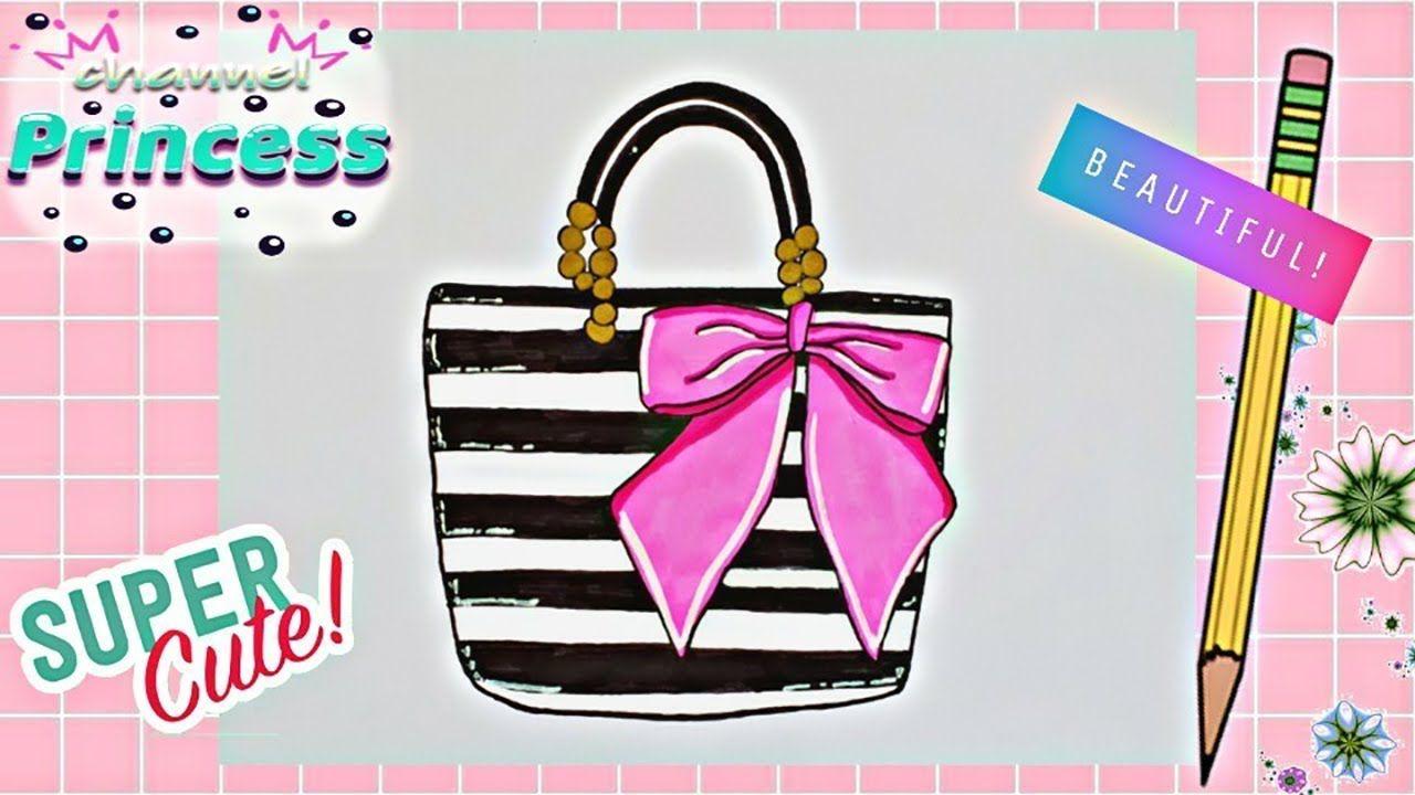 Draw Nice Handbag مراحل سهلة جدا لرسم حقيبة يد كيوت وأنيقة Lady Dior Bag Dior Bag Lady Dior