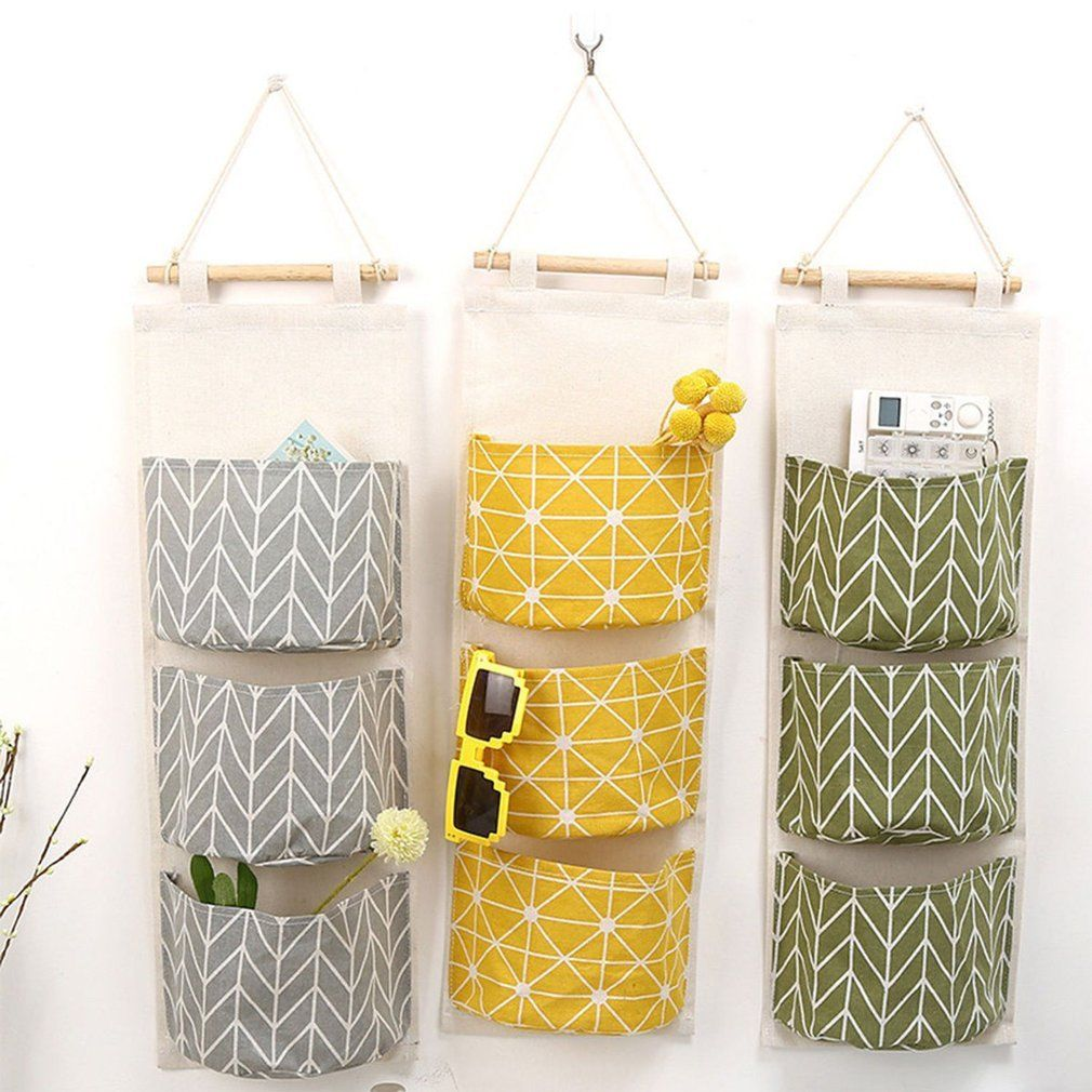 2.99 GBP - 3 Grids Wall Hanging Storage Bag For Decoration Kitchen ...