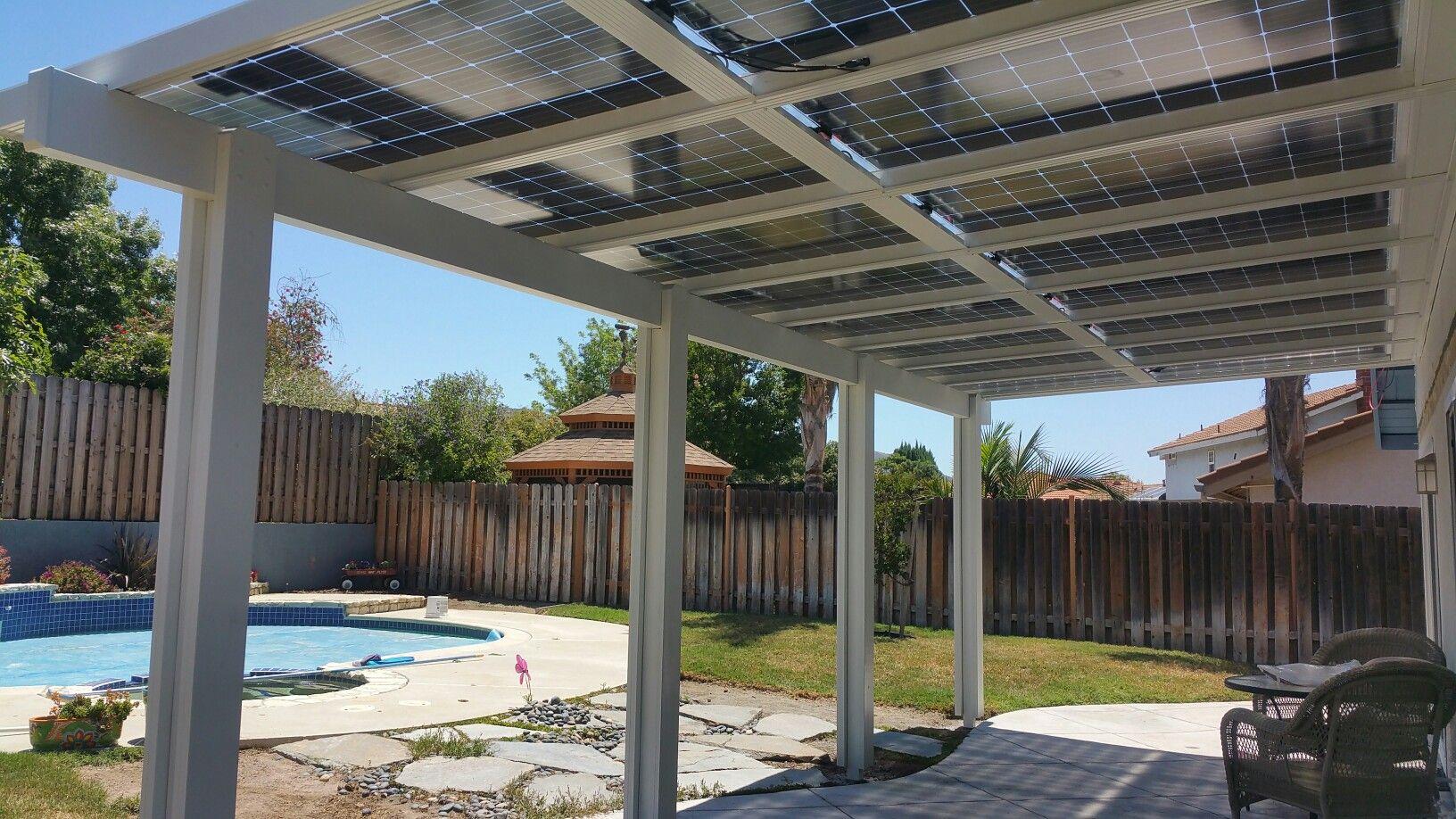 solar patio cover bifacial panels