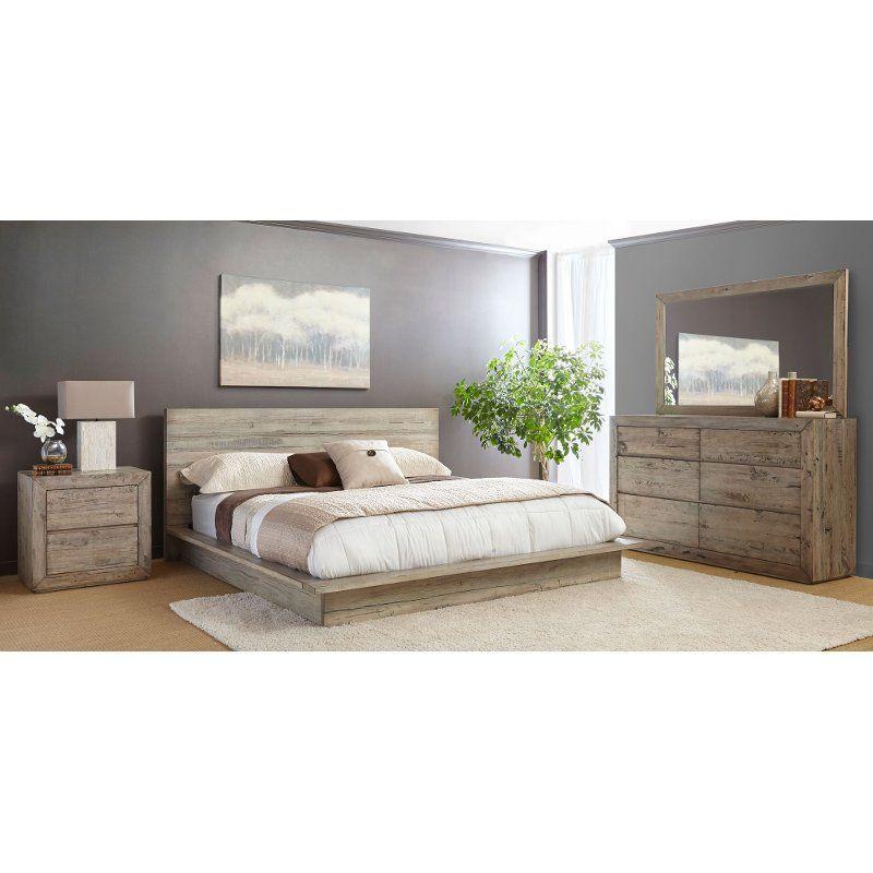 Modern Rustic 4 Piece King Bedroom Set Renewal Juegos De Muebles De Dormitorio Muebles Hogar Ideas De Decoracion De La Habitacion