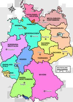 German State Map Ancestors from NordrheinWestfalen Hessen