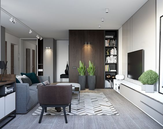 For the modern urbanite building a beautiful interior the apartments compact nature can be challenging this studio by insight studio in minsk