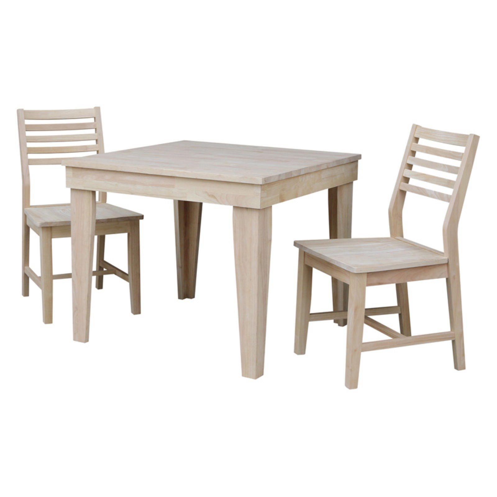 Brilliant International Concepts Aspen 3 Piece Square Dining Table Set Pdpeps Interior Chair Design Pdpepsorg