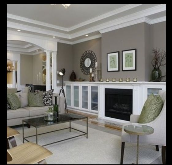 Sherwin williams mindful gray project whitney lookbook - Contemporary paint colors for living room ...