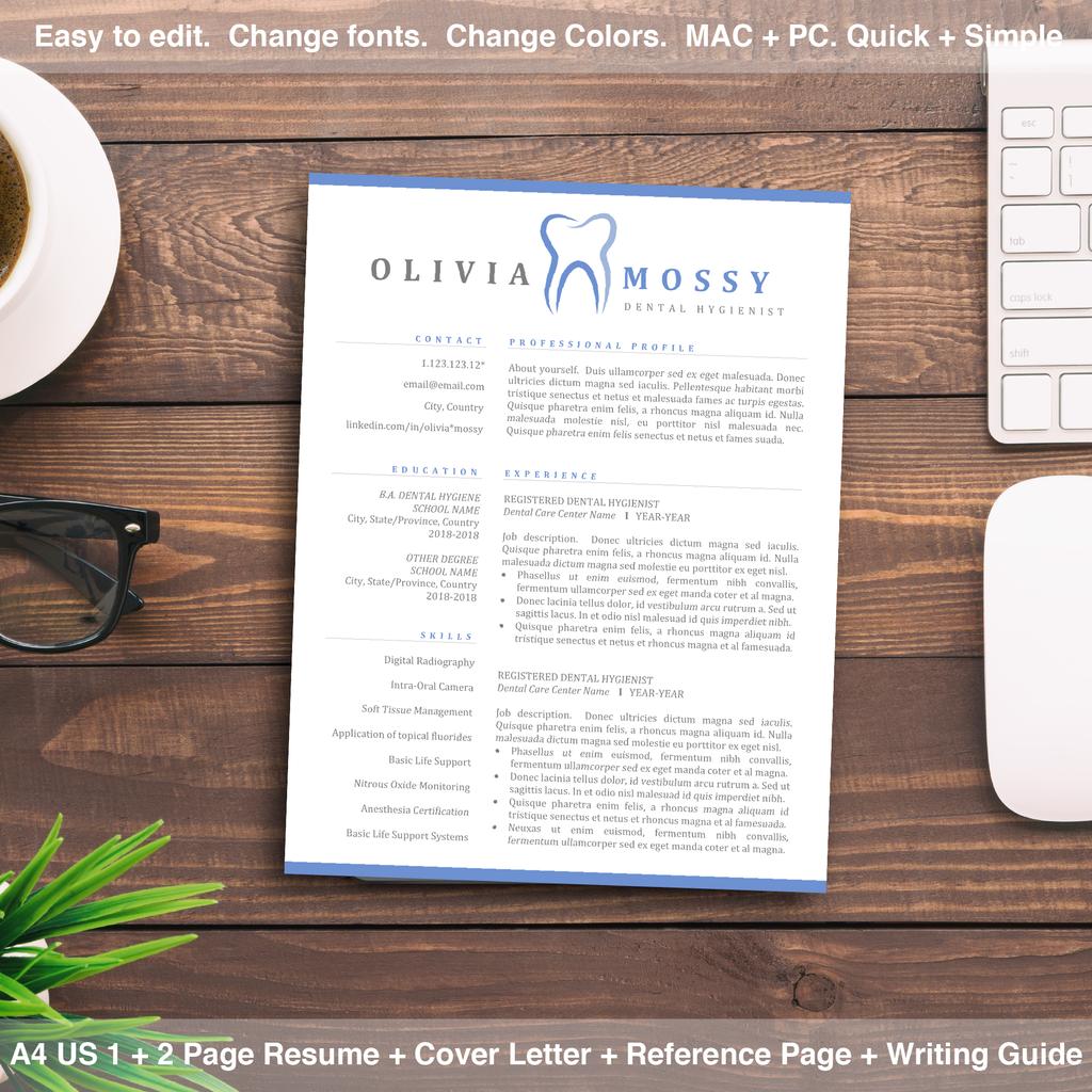 Dental Hygienist Resume Dentist Resume Template Cover Letter
