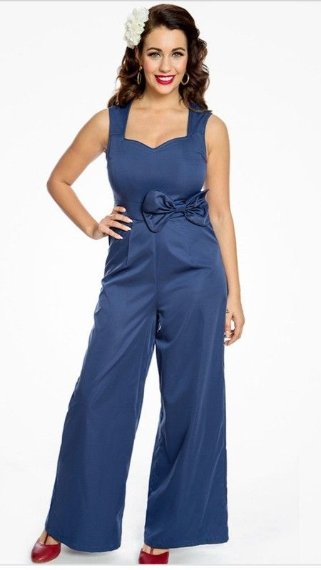 fee9dce0e74 Deep blue wide leg jumpsuit - Brand new never been worn all original  packaging and tags. From lindy bop an online vintage retailer in the U.K.  Never been ...