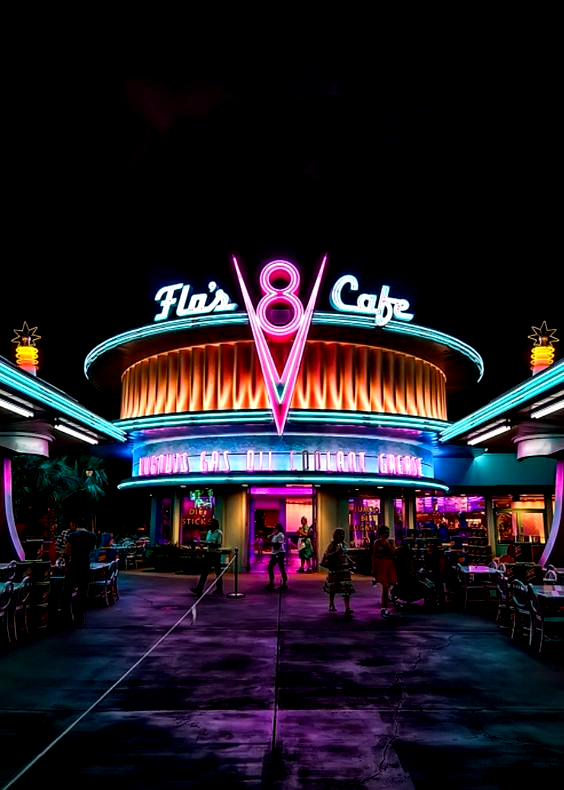 Flo S V8 Cafe In 2020 Retro Wallpaper Neon Aesthetic Wallpapers Vintage