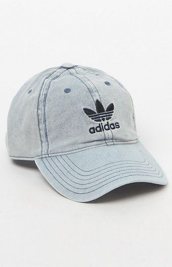 This adidas denim hat was made for lounging or strolling. The Relaxed Denim  Hat has a Trefoil logo on front for a sporty-chic vibe 7576b2d9981