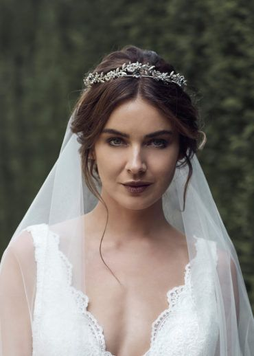 HARPER | antique silver crystal crown - TANIA MARAS | bespoke wedding headpieces + wedding veils