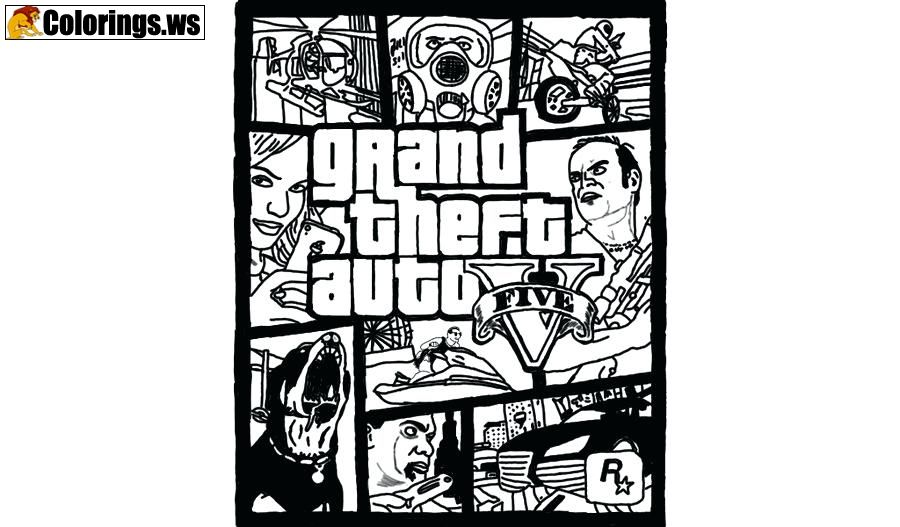 gta coloring pages Gta 5 Game Coloring Page | GTA 5 Coloring Pages | The PC version  gta coloring pages