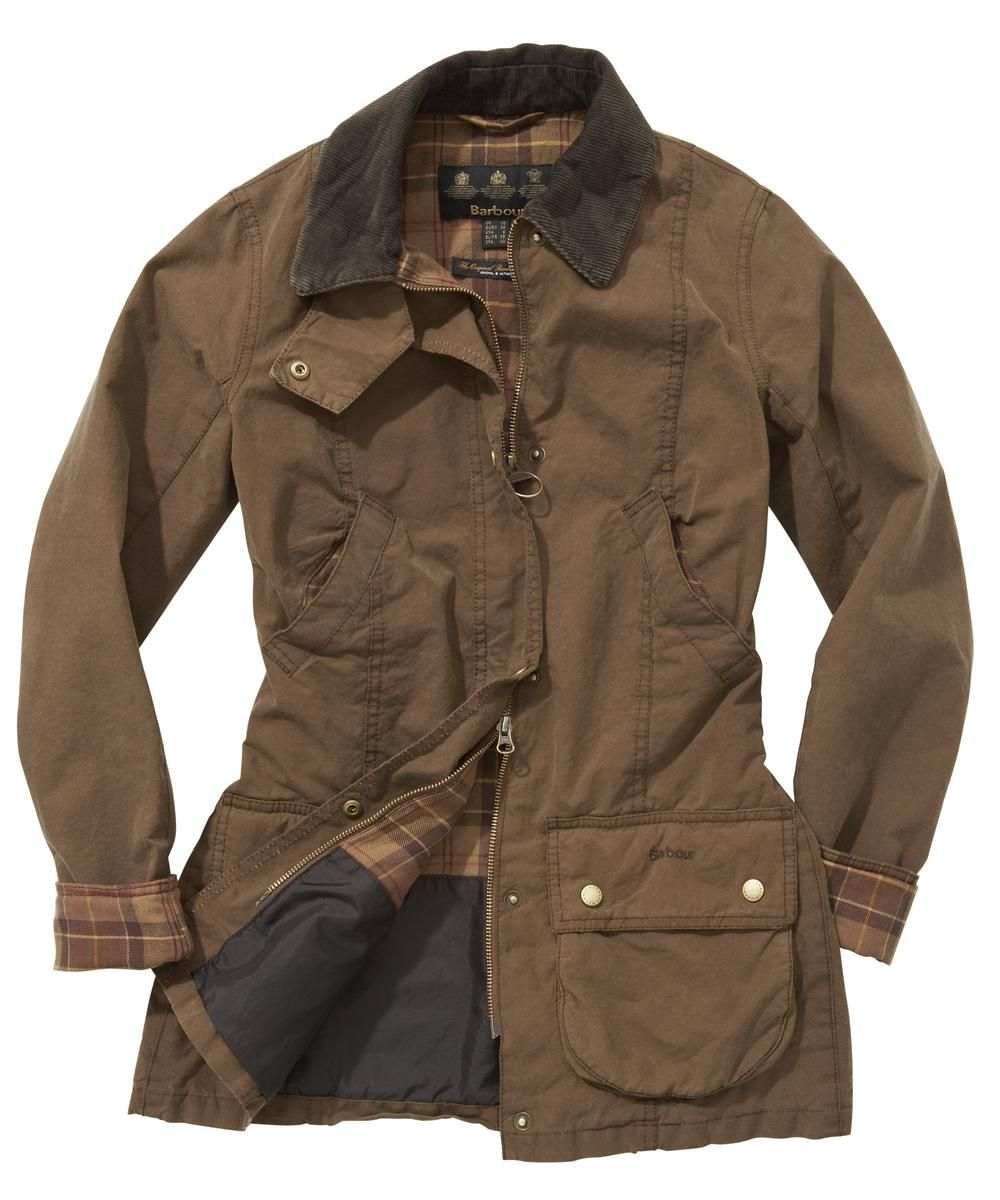 Womens Barbour Vintage Beadnell Waxed Jacket Olive Hmm